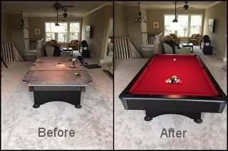 Pool table recovering in Salt Lake City content image2