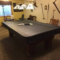 Antique 9 ft Pool Table